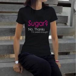 Дамска тениска с принт SUGAR в черен цвят