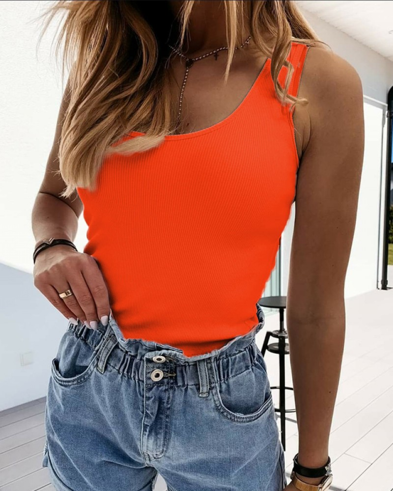 Потник рипс в оранжев цвят