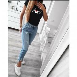 Тениска в черен цвят LOVE MINI