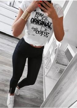 Тениска в бял цвят ORIGINAL