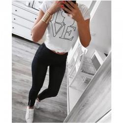Дамска тениска в бял цвят с принт LOVE MICE