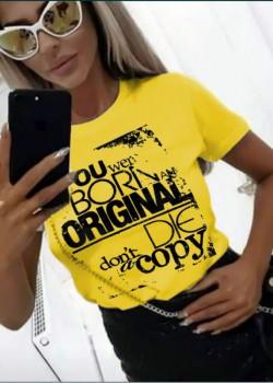 Тениска в жълт цвят ORIGINAL